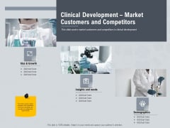Healthcare Merchandising Clinical Development Market Customers And Competitors Elements PDF