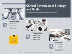 Healthcare Merchandising Clinical Development Strategy And Goals Structure PDF