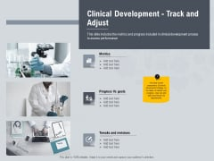 Healthcare Merchandising Clinical Development Track And Adjust Summary PDF
