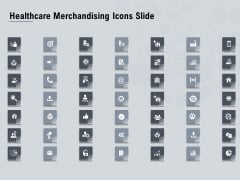 Healthcare Merchandising Icons Slide Ppt Slides Shapes PDF