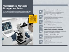 Healthcare Merchandising Pharmaceutical Marketing Strategies And Tactics Slides PDF