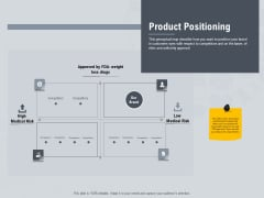 Healthcare Merchandising Product Positioning Ppt Outline Slide Portrait PDF