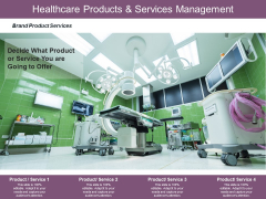 Healthcare Products And Services Management Ppt PowerPoint Presentation Layouts Graphics Tutorials