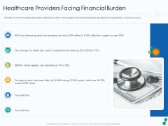 Healthcare Providers Facing Financial Burden Pictures PDF Ppt Slides Graphics Tutorials PDF
