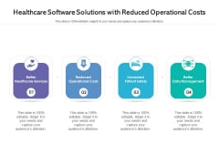 Healthcare Software Solutions With Reduced Operational Costs Ppt PowerPoint Presentation Infographic Template Backgrounds PDF