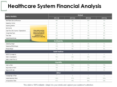 Healthcare System Financial Analysis Ppt PowerPoint Presentation Ideas Examples