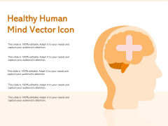 Healthy Human Mind Vector Icon Ppt PowerPoint Presentation Show Guidelines PDF