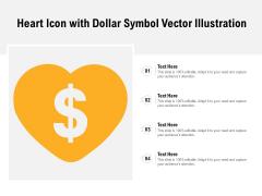 Heart Icon With Dollar Symbol Vector Illustration Ppt PowerPoint Presentation Microsoft PDF