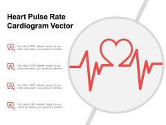 Heart Pulse Rate Cardiogram Vector Ppt PowerPoint Presentation Pictures Inspiration