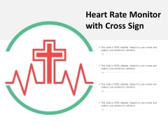 Heart Rate Monitor With Cross Sign Ppt PowerPoint Presentation Visual Aids Pictures