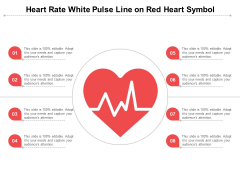 Heart Rate White Pulse Line On Red Heart Symbol Ppt PowerPoint Presentation Professional Example