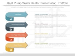 Heat Pump Water Heater Presentation Portfolio