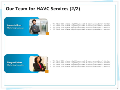 Heating Ventilation And Air Conditioning Installation Our Team For HAVC Services Marketing Introduction PDF