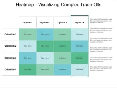 Heatmap Visualizing Complex Trade Offs Ppt PowerPoint Presentation Gallery Template