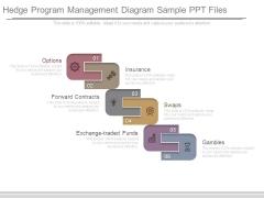 Hedge Program Management Diagram Sample Ppt Files