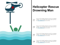 Helicopter Rescue Drowning Man Ppt PowerPoint Presentation Inspiration Example File
