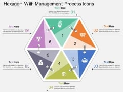 Hexagon With Management Process Icons Powerpoint Template