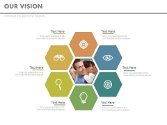 Hexagonal Business Vision Infographic Chart Powerpoint Slides