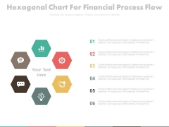 Hexagonal Chart With Finance And Communication Icons Powerpoint Template
