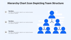 Hierarchy Chart Icon Depicting Team Structure Ppt Infographics Graphics Design PDF