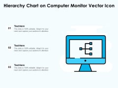 Hierarchy Chart On Computer Monitor Vector Icon Ppt PowerPoint Presentation Gallery Aids PDF