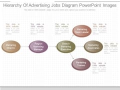 Hierarchy Of Advertising Jobs Diagram Powerpoint Images