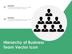Hierarchy Of Business Team Vector Icon Ppt PowerPoint Presentation Inspiration Example File PDF