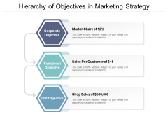 Hierarchy Of Objectives In Marketing Strategy Ppt PowerPoint Presentation Outline Gallery