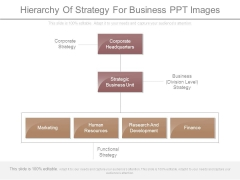 Hierarchy Of Strategy For Business Ppt Images