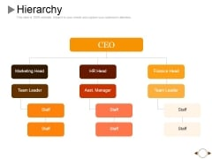 Hierarchy Ppt PowerPoint Presentation Infographics Master Slide