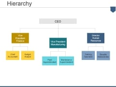 Hierarchy Ppt PowerPoint Presentation Professional Deck