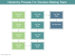 Hierarchy Process For Decision Making Team Powerpoint Shapes