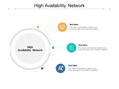 High Availability Network Ppt PowerPoint Presentation Inspiration Diagrams Cpb