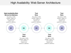 High Availability Web Server Architecture Ppt PowerPoint Presentation Summary File Formats Cpb