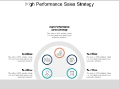 High Performance Sales Strategy Ppt PowerPoint Presentation Model Example Topics Cpb