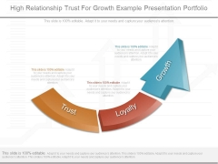 High Relationship Trust For Growth Example Presentation Portfolio
