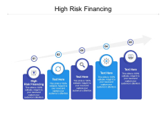 High Risk Financing Ppt PowerPoint Presentation Microsoft Cpb