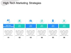 High Tech Marketing Strategies Ppt PowerPoint Presentation Model Example Cpb