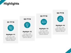 Highlights Gear Ppt PowerPoint Presentation Portfolio Visuals