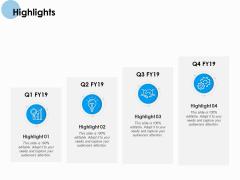 Highlights Ppt PowerPoint Presentation Summary