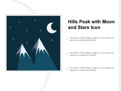 Hills Peak With Moon And Stars Icon Ppt PowerPoint Presentation Icon Graphics