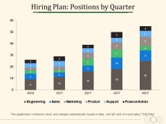Hiring Plan Positions By Quarter Ppt PowerPoint Presentation Slides Deck