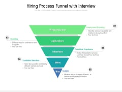 Hiring Process Funnel With Interview Ppt PowerPoint Presentation File Model PDF