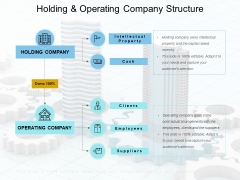 Holding And Operating Company Structure Ppt PowerPoint Presentation Layouts Slide