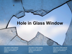 Hole In Glass Window Ppt PowerPoint Presentation Professional Picture