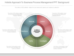 Holistic Approach To Business Process Management Ppt Background