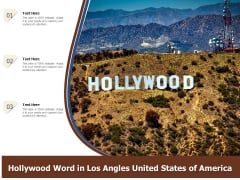Hollywood Word In Los Angles United States Of America Ppt PowerPoint Presentation Gallery Diagrams PDF
