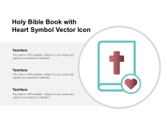 Holy Bible Book With Heart Symbol Vector Icon Ppt PowerPoint Presentation Show Layout