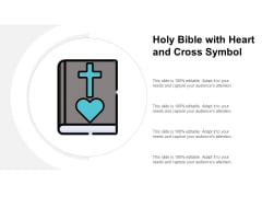 Holy Bible With Heart And Cross Symbol Ppt PowerPoint Presentation Icon Layout Ideas