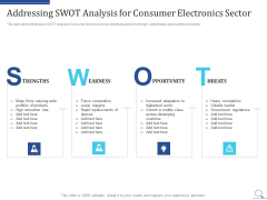 Home Appliances Producer Seed Addressing Swot Analysis For Consumer Electronics Sector Information PDF